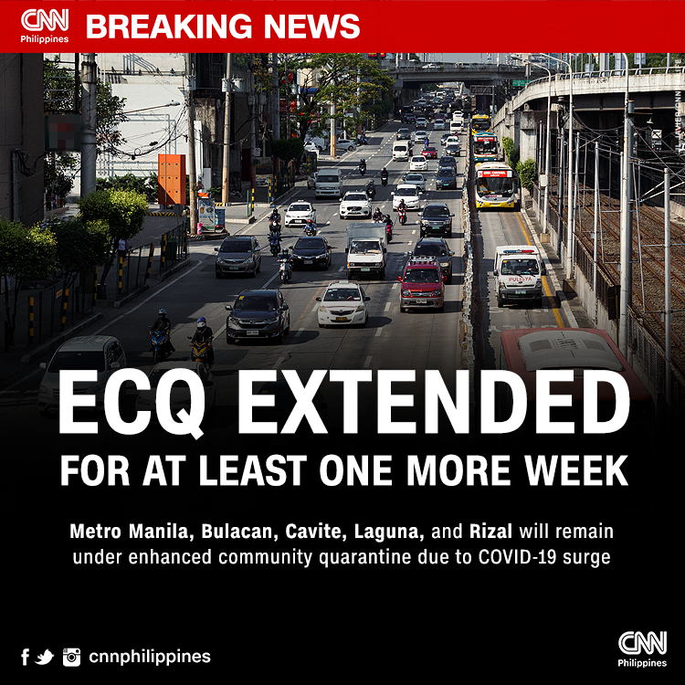 ECQ Extended, CNN Philippines