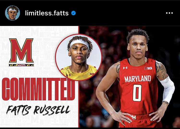 """Daniel Oyefusi on Twitter: """"Former Rhode Island point guard Daron """"Fatts""""  Russell is transferring to Maryland. Terps get their big man and lead guard  in the same day.… https://t.co/El6JJevMnm"""""""