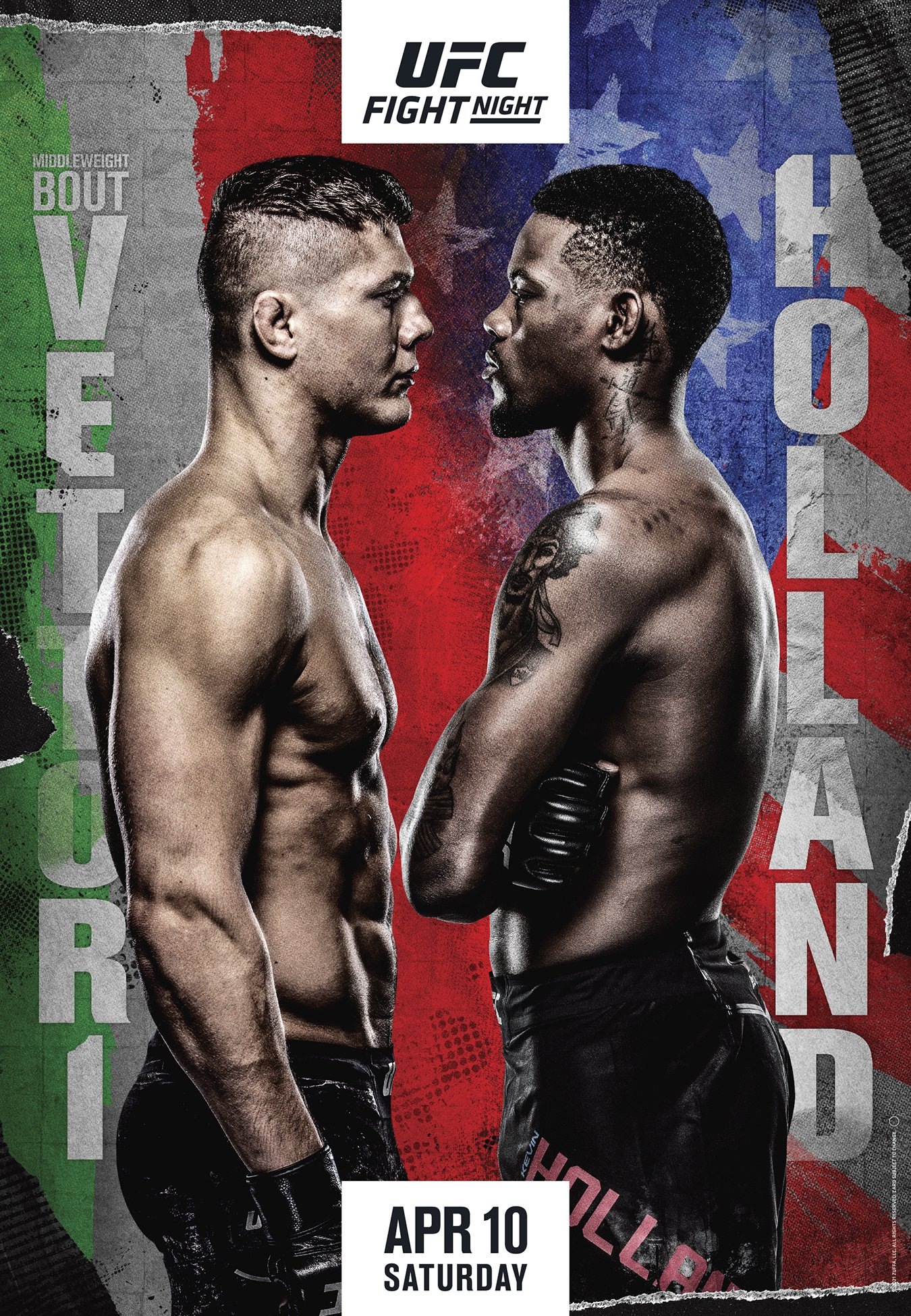 Media - *UPDATE* UFC Fight Night: Vettori vs Holland official poster  revealed + Fight lineup | Sherdog Forums | UFC, MMA & Boxing Discussion