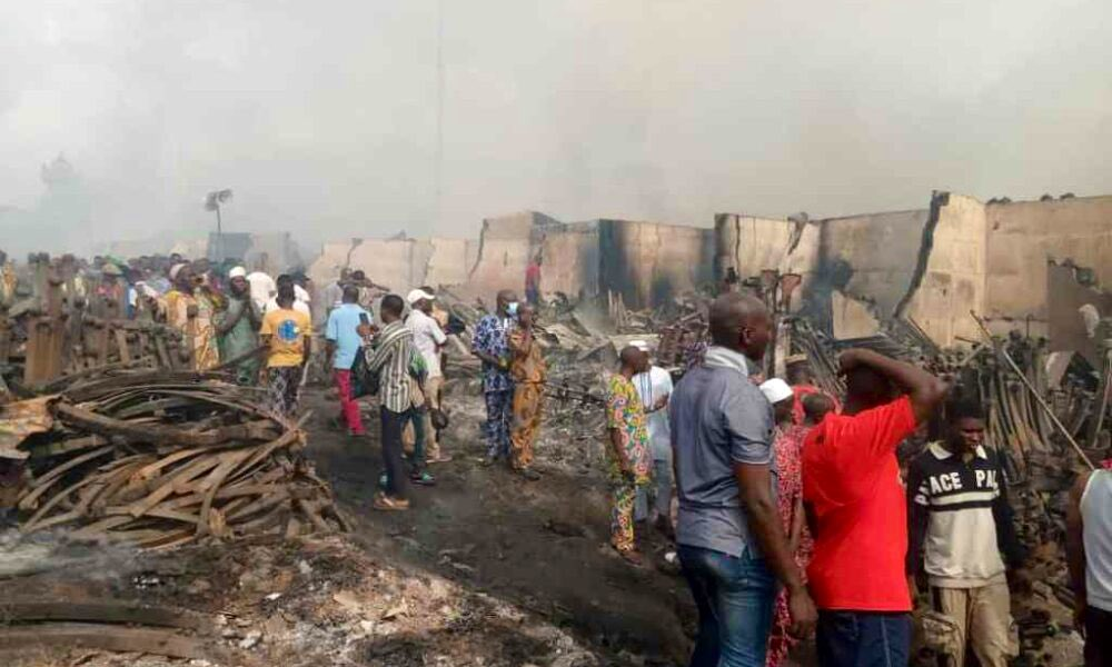 Traders Lose Millions To Midnight Fire At Araromi Market Ibadan