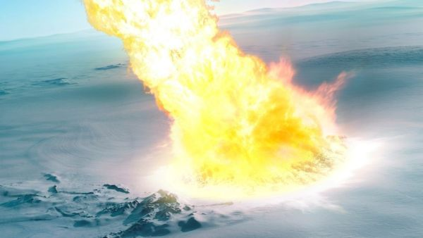SPACEdotcom: Fiery 'airburst' of superheated gas slammed into Antarctica 430,000 years ago