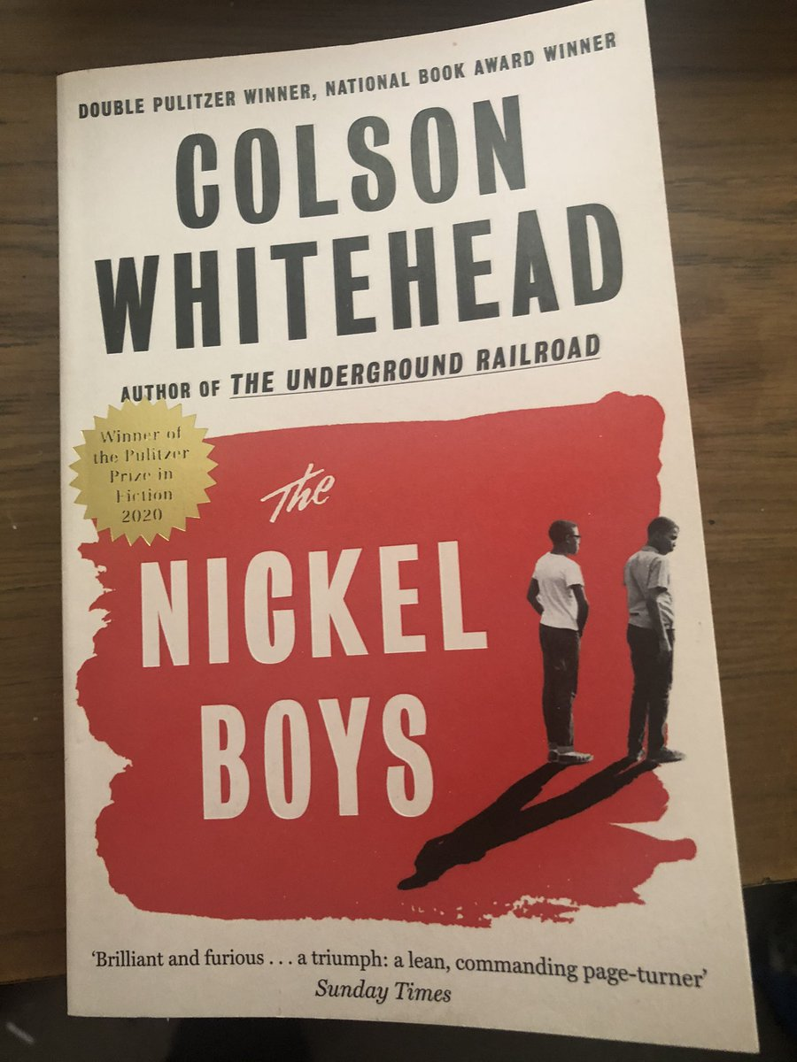 Just read The Nickel Boys by Colson Whitehead. Superb! Elwood is a bright boy living in 1960's segregated Florida. Horrendous fortune lands him in the notorious Nickel reform school. His naive idealism and faith in humanity is badly misplaced. A novel based on historical reality https://t.co/pcJPd3urXA