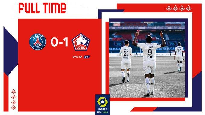 Skor akhir PSG 0-1 Lille