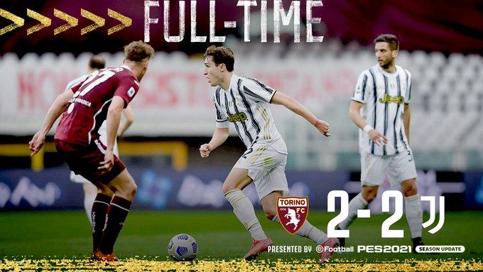Skor akhir Torino 2-2 Juventus