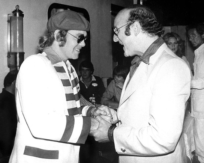 Happy Birthday to Clive Davis who turns 89 years young today - pictured here with Elton John, NYC, 1979