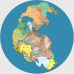 Image for the Tweet beginning: An Incredible Map of Pangea