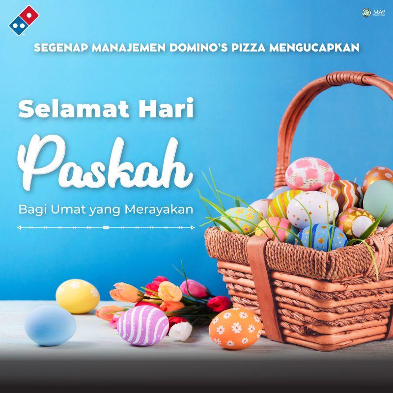 Segenap Management Domino s Pizza Indonesia mengucapkan SELAMAT HARI PASKAH untuk semua yang merayakan. https t