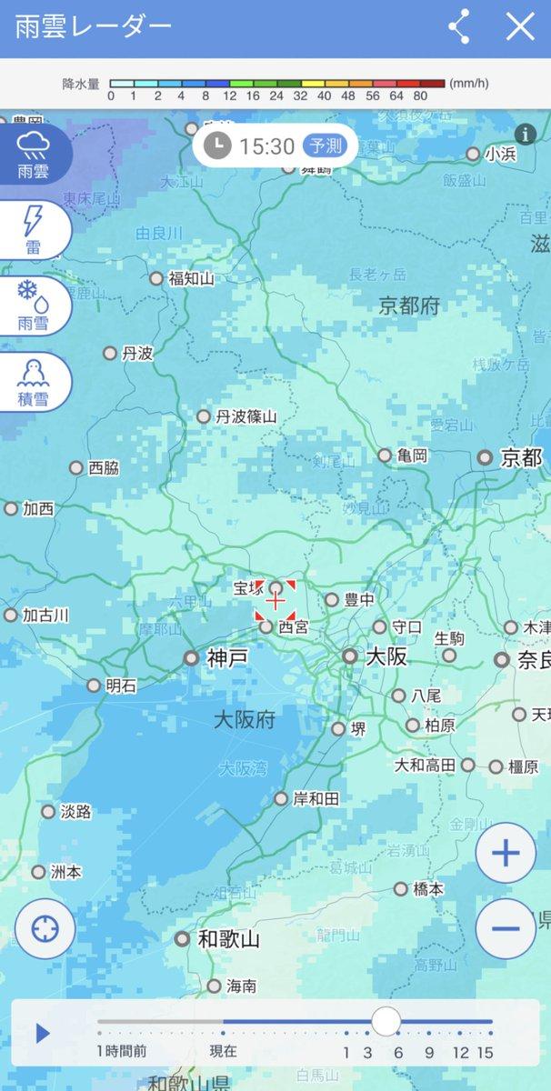 レーダー 奈良 天気 雨雲 奈良市の1時間天気