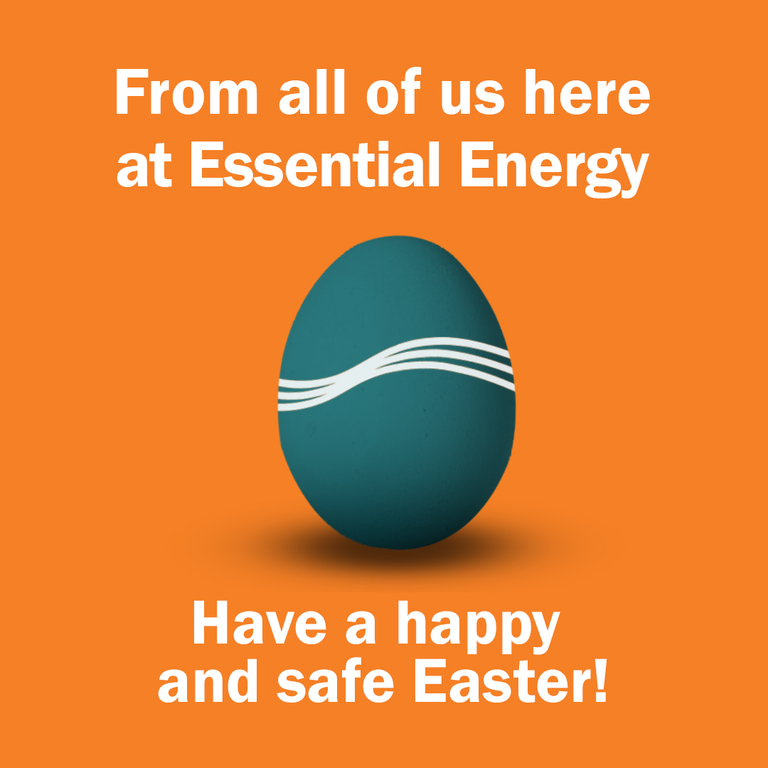 From all of us here at Essential Energy, have a happy and safe happy Easter! https://t.co/BzVt91yKWH