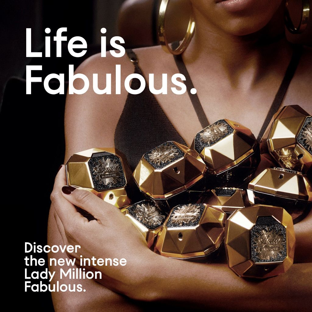 """LeCute on Twitter: """"Life is fabulous. ✨ Evermore fabulous, with a party  spirit that sparkles all through the night. Discover the new intense Lady  Million Fabulous. #TimeToShine #PacoRabanne #OnlyOriginals Shop Online or"""