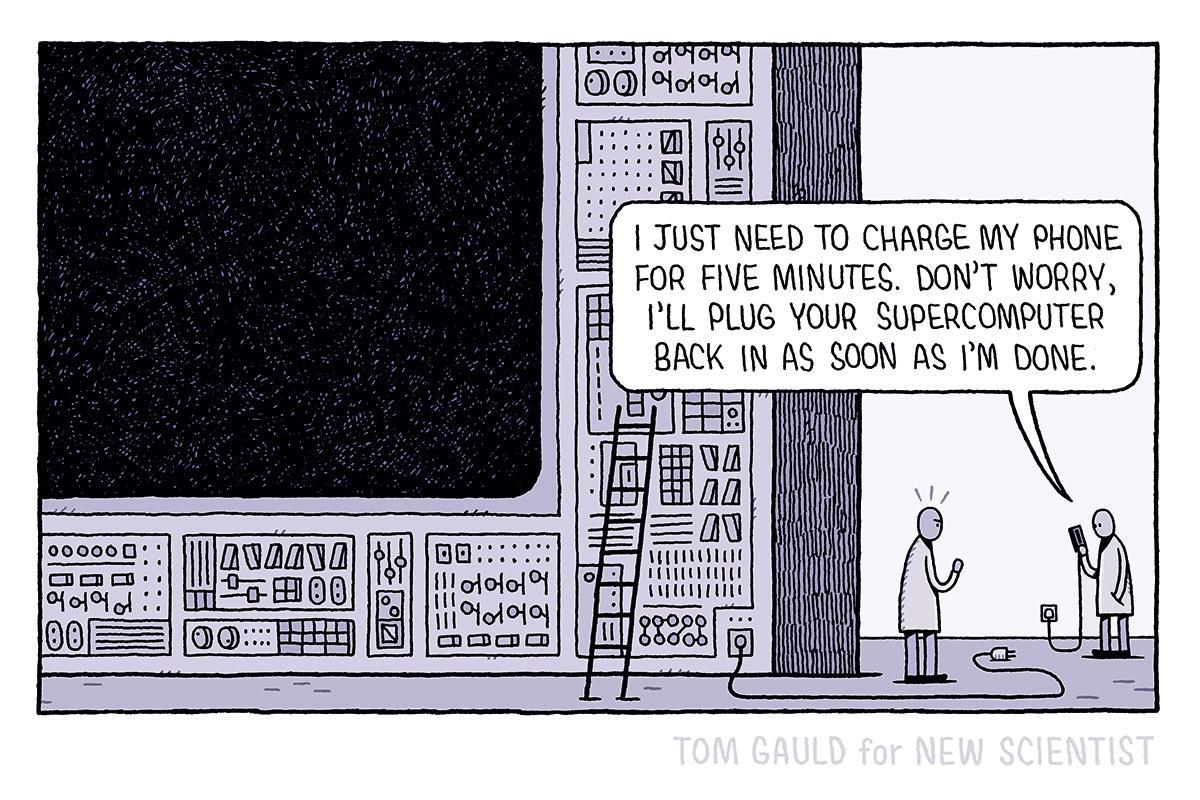 newscientist: How's your battery life?  Browse @tomgauld cartoons