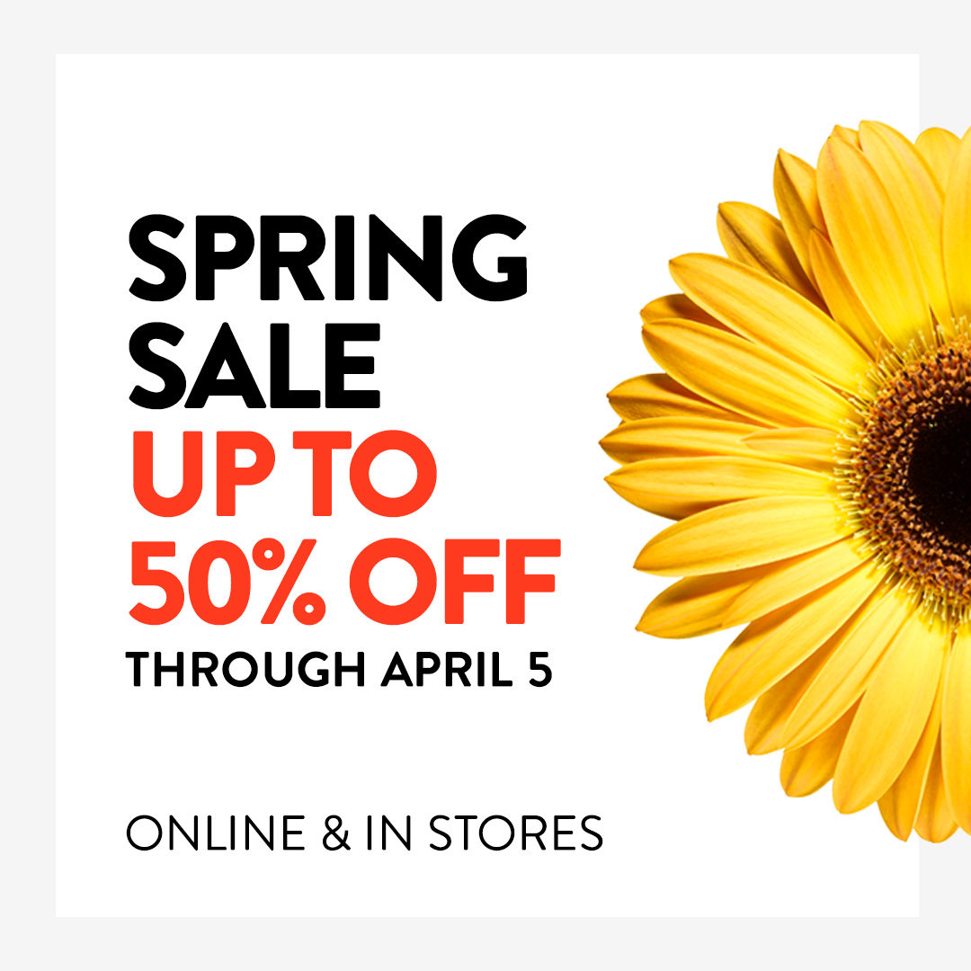 Last chance to shop our Spring Sale! Get up to 50% off through tomorrow, April 5. Shop now: https://t.co/jmilqb4IV5 https://t.co/3ATljYKDgX
