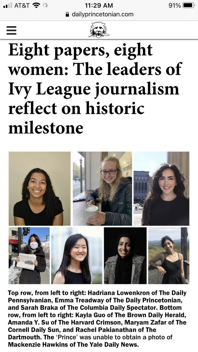 I love this pic so much: for the first time ever, all 8 Ivy League college newspapers are led by women 💪🏼💪🏼💪🏼💪🏼 https://t.co/DUmgJ72yCq