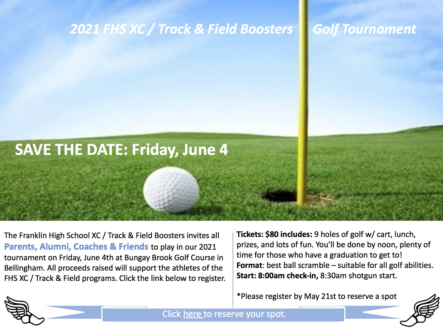 2021 FHS XC - Track & Field Boosters Golf Tournament - Jun 4 - Sign up now!