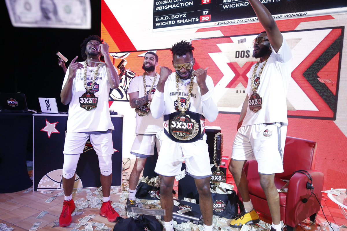 THE CHAMPS ARE HERE! 🏆 #3X3U https://t.co/svs6jY7RpX
