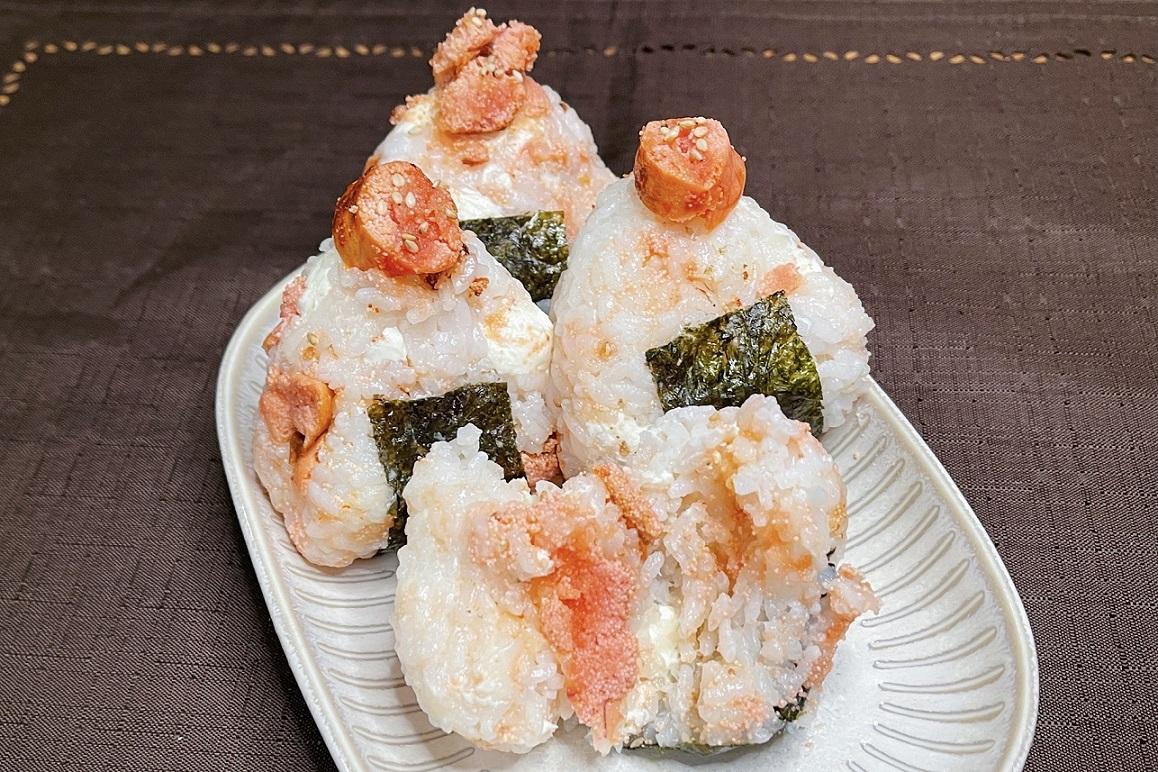 炙った明太子がお米とよく合いそう!絶品おにぎりレシピ!