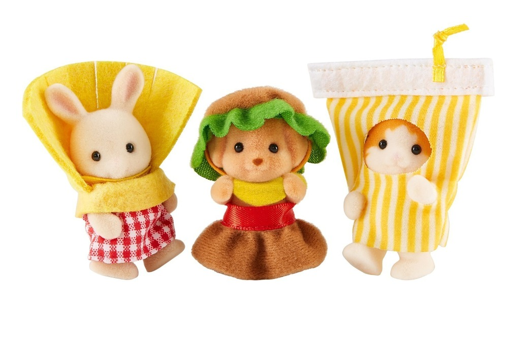 シルバニアファミリー史上初!ハンバーガーコスチュームの赤ちゃんトリオが可愛すぎる!