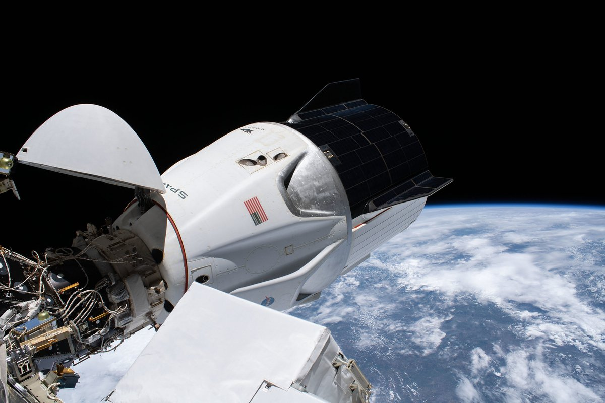 .@NASA TV is live now as NASA astronauts prepare to take a spin around station in the Crew Dragon Resilience, relocating it to prepare for the arrival of new spacecrafts this summer. Read More...