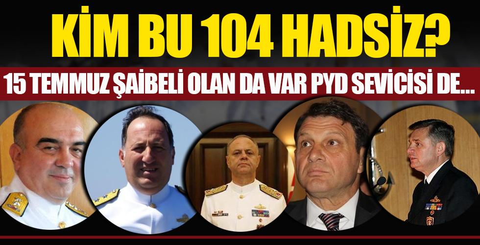 """Beyaz Gazete's tweet - """"104 amiral kim? 15 Temmuz şaibeli olan da var PYD  sevicisi de! - """" - Trendsmap"""