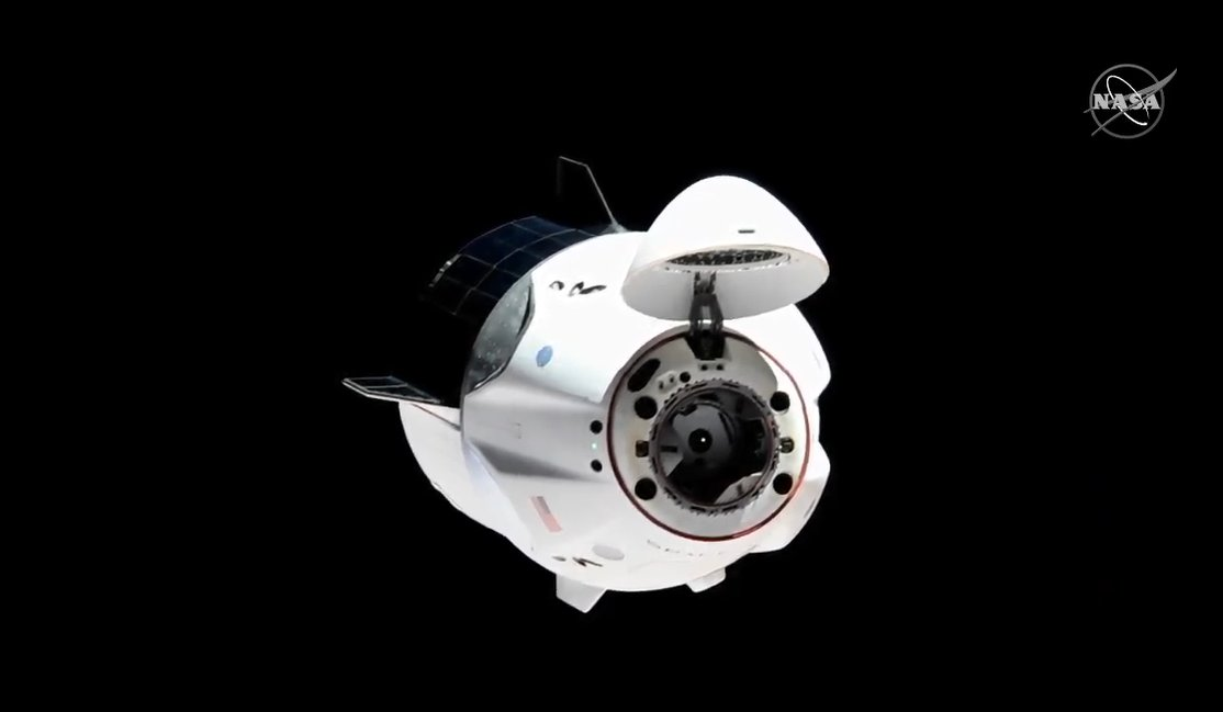 Dragon has separated from the Harmony module's forward-facing port and moved away from the @Space_Station. Next stop, the zenith space-facing port