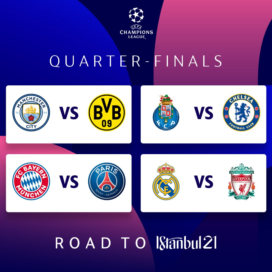 """UEFA Champions League on Twitter: """"This week 🤩 Pick 4 first-leg winners 👇  #UCL… """""""