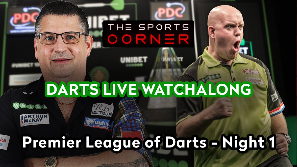 🚨 PREMIER LEAGUE OF DARTS! 🚨  🎯 One of the biggest events of the year in darts kicks off TONIGHT - join Josh for drinks, drama and (hopefully) nine darters in the Premier League of Darts!  📹 LIVE NOW ON YOUTUBE! https://t.co/accdYiKxZv https://t.co/dEnjwr0TXK