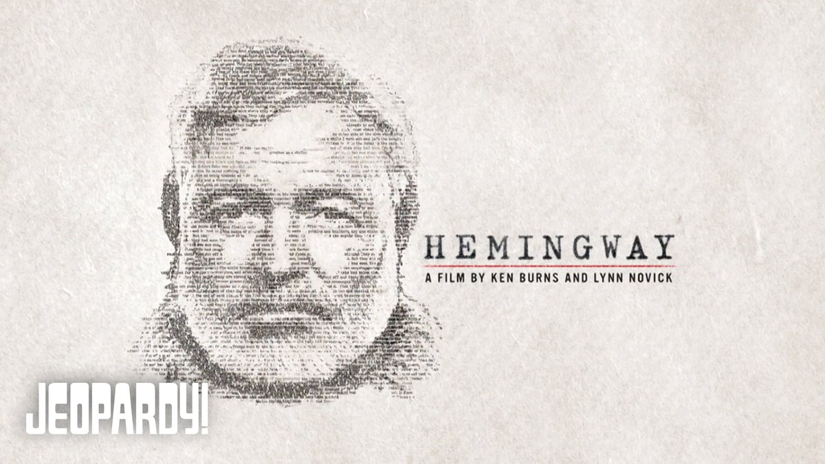 This category, delivered by filmmaker @KenBurns, is good, and fine, and true. And all about HEMINGWAY. @PBS #HemingwayPBS
