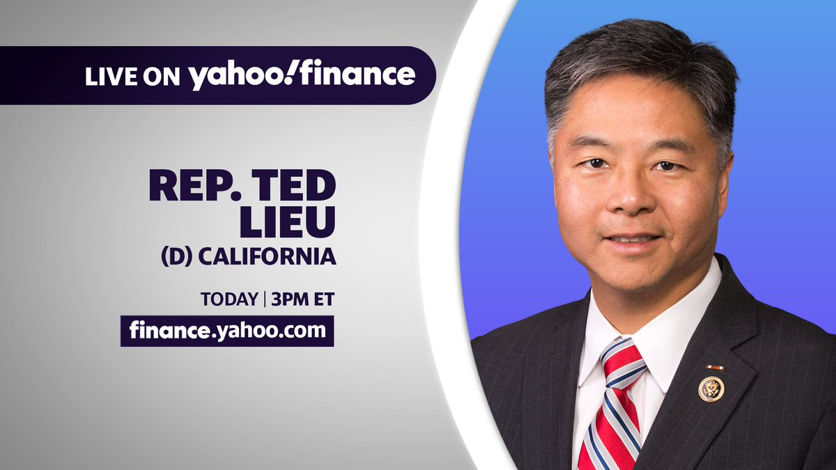 YahooFinance: LIVE NOW: @RepTedLieu (D) California joins Yahoo Finance for an interview! Watch at !