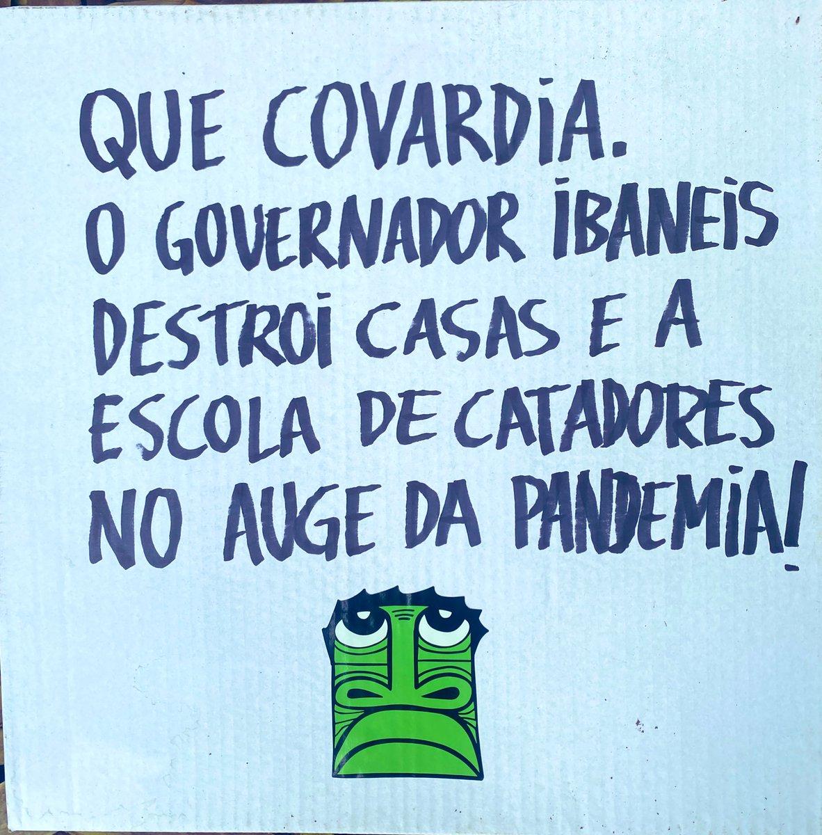 Que covardia governador @IbaneisOficial . Despejar vulneráveis no auge da pandemia ! #ocupaCCBBresiste #IbaneisCovarde https://t.co/mERIbEIpgc