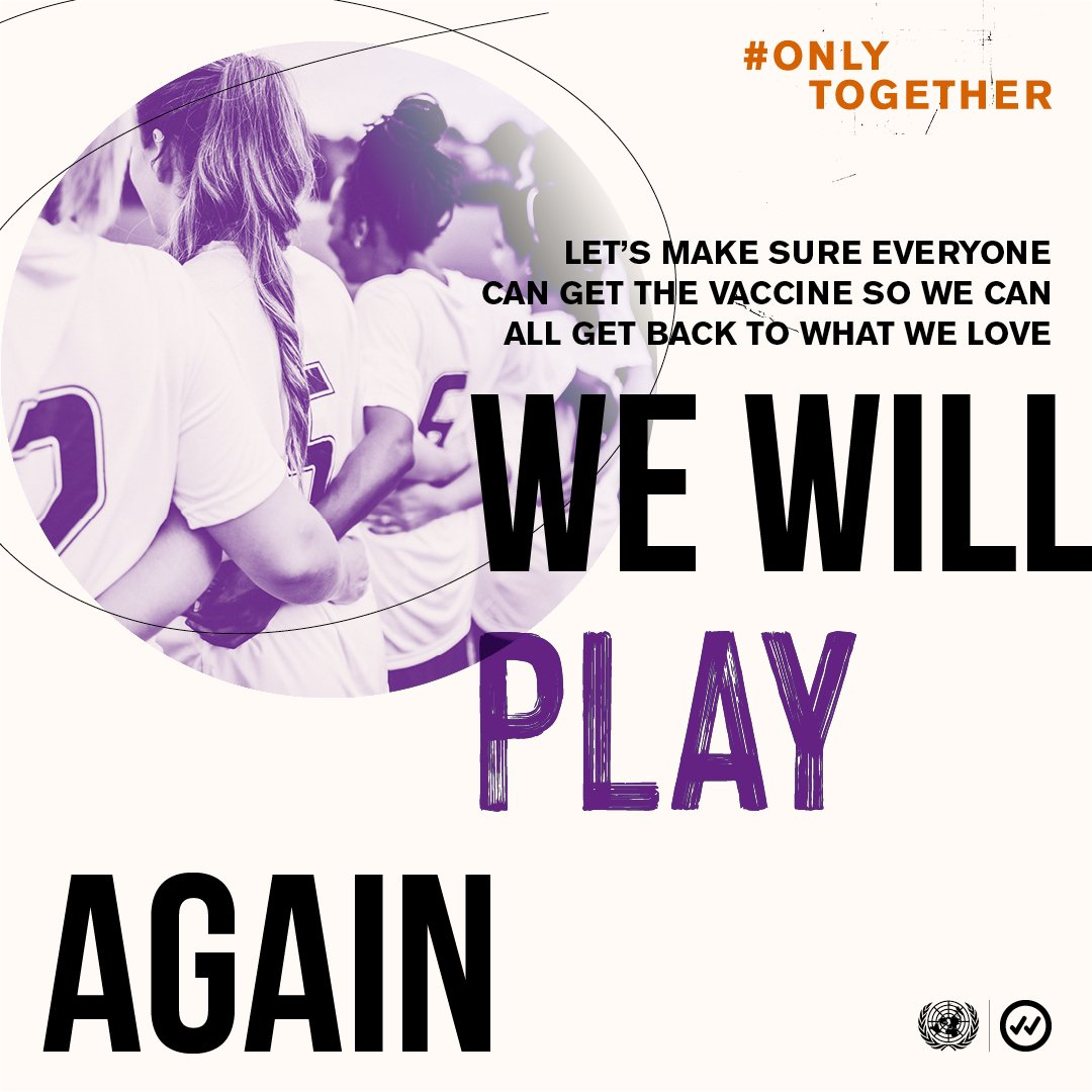 We must level the playing field so that everyone, everywhere, can have access to a #COVID19 vaccine.  #OnlyTogether will we play & cheer again. #SportDay https://t.co/IgkqVpzcAx