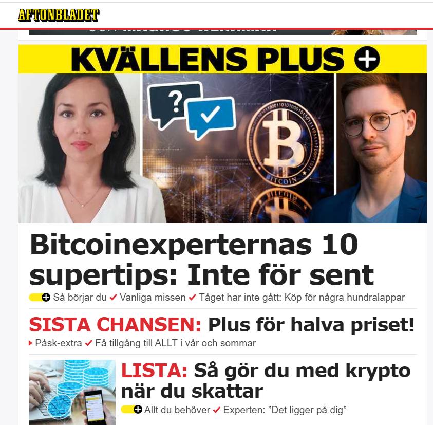 bitcoin pelnas aftonbladetas