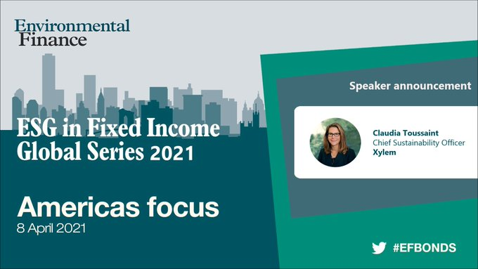 Claudia Toussaint and Samir Patel join the @Enviro_Finance ESG in Fixed Income Series to discuss Xylem's green bond and how green financing can be a s...