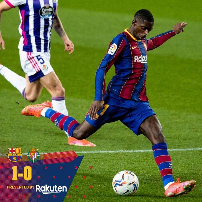 Skor akhir Barcelona 1-0 Real Valladolid