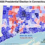 Image for the Tweet beginning: Connecticut's margins haven't changed much