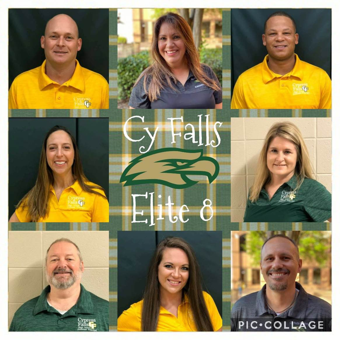 Great team players! Always impressed with @cyfallshs administration and their pride in their kids and school!