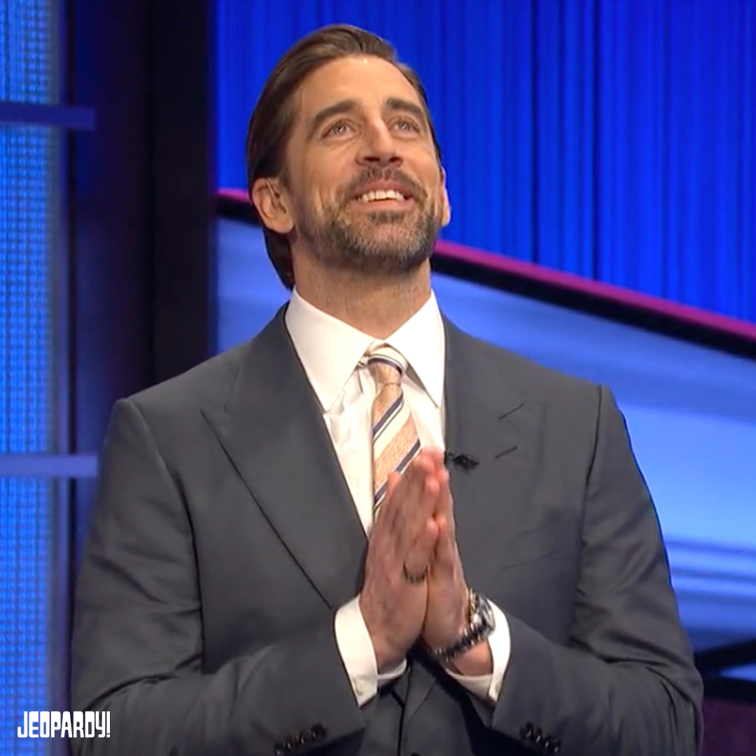 You saw today's Final Jeopardy! – now here's an exclusive behind-the-scenes chat with @AaronRodgers12' response.