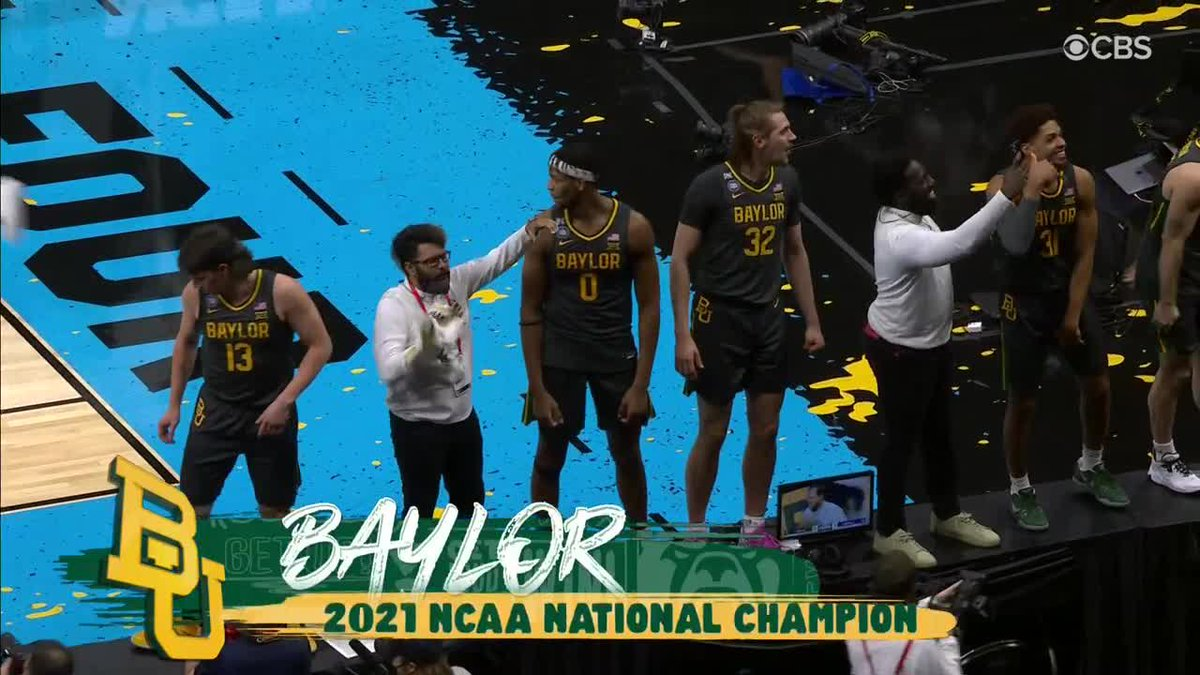FIRST. TIME. FEELING! 👏  Baylor wins the #NationalChampionship for the first time in men's program history! https://t.co/HOg0RgPN41