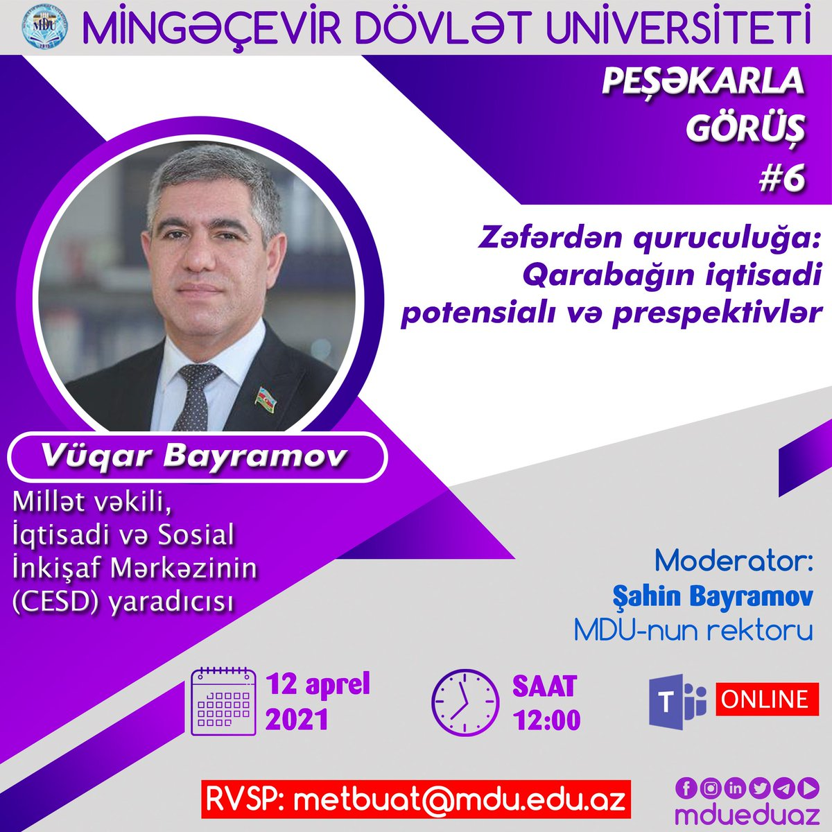 Mingachevir State University Mdu Mdueduaz Twitter