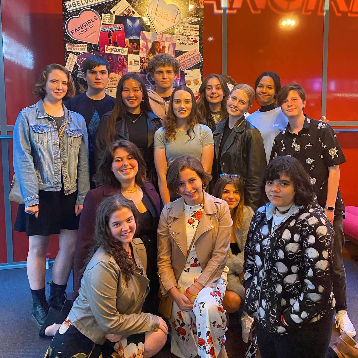 A group of Drama students recently attended the extremely popular production of FANGIRLS.   Opportunities such as these allow for students to see the potential of their chosen artistic pursuits and can help inspire a life-long love of theatre.
