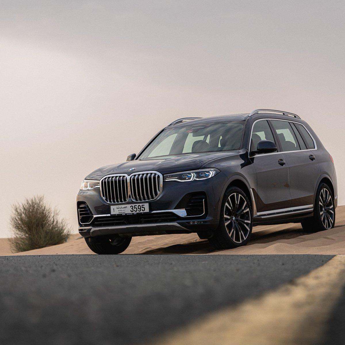 Desert drives in The X7. 🔥 Where should we take this beauty next?  #BMWX7 #BMWAGMC #XDrive40i #BMWuae #BMW #mydubai #uae #desert #dubai