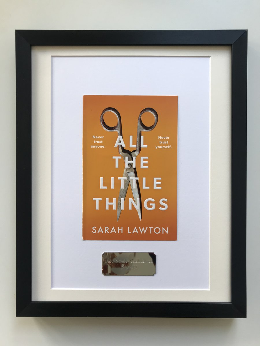 Mark Coombs in Woodford Green has received the #gift he purchased from MyFirstRecord.co.uk for his friend, Sarah Lawton. Its a #framedbookcover of her debut novel #myfirstrecord #favouritebooks #favouritenovel #favouritebook #framedbook #wallart #gifts #giftideas