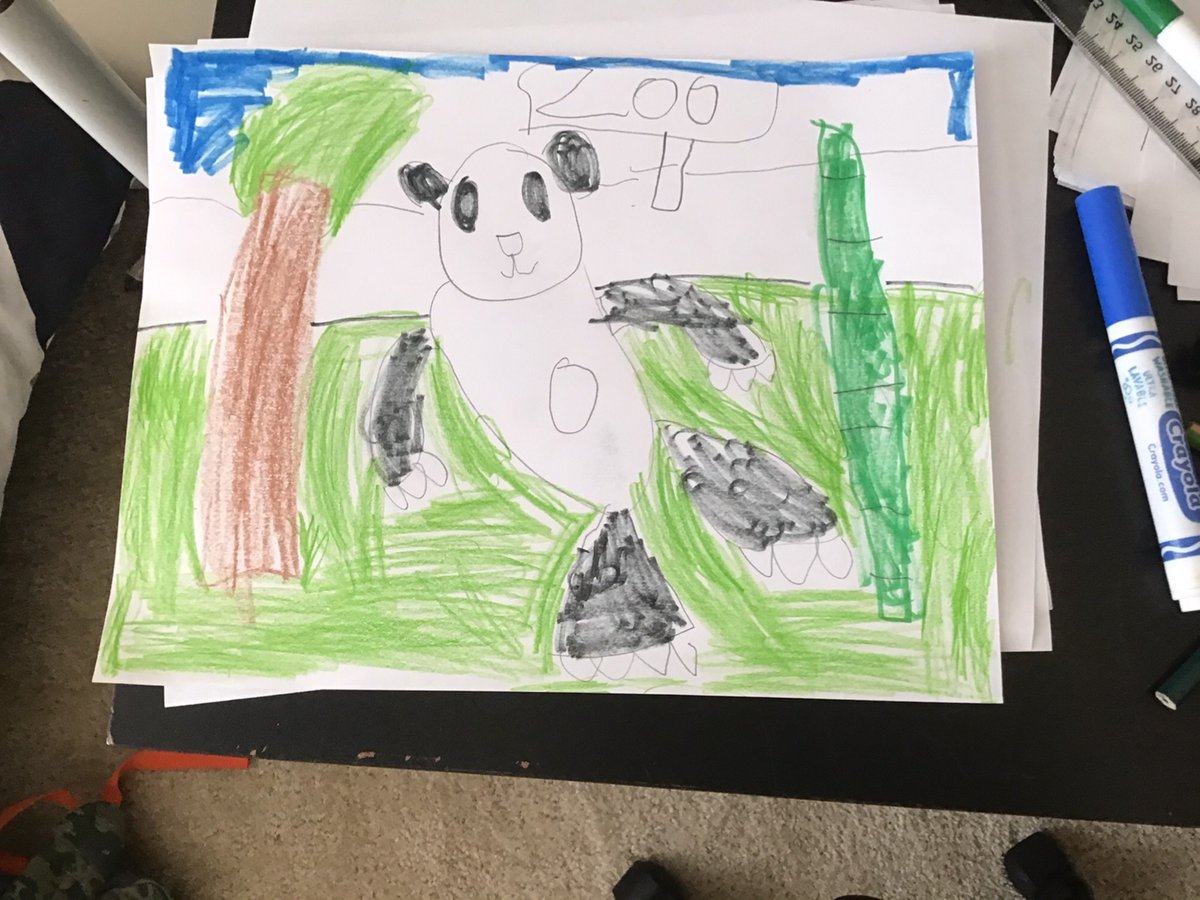 1st grade learned how to draw Pandas while watching the Giant Panda Cam <a target='_blank' href='https://t.co/UQ8jNjMgUC'>https://t.co/UQ8jNjMgUC</a> <a target='_blank' href='http://twitter.com/gzaberer'>@gzaberer</a> <a target='_blank' href='http://twitter.com/NationalZooDC'>@NationalZooDC</a> <a target='_blank' href='http://twitter.com/HFBAllStars'>@HFBAllStars</a> <a target='_blank' href='http://twitter.com/hfbPTA'>@hfbPTA</a> <a target='_blank' href='https://t.co/53k8KL8vhz'>https://t.co/53k8KL8vhz</a>