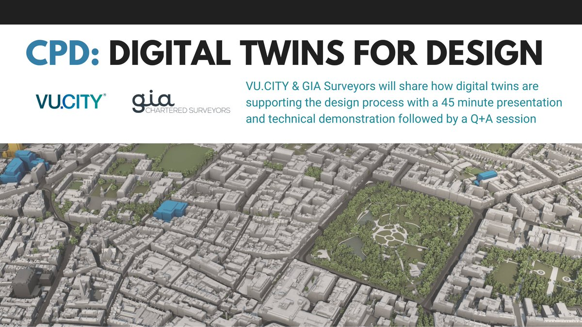 Want to find out how you can use #plantech to make better, more confident design decisions in #Dublin & #Belfast?  Get in touch with @CharlotteVUCIT1 & PlanTech champions @giasurveyors for lunchtime CPD session to discover more 📧👇 c.mccarthy@vu.city  #urbanplanning #digitaltwin