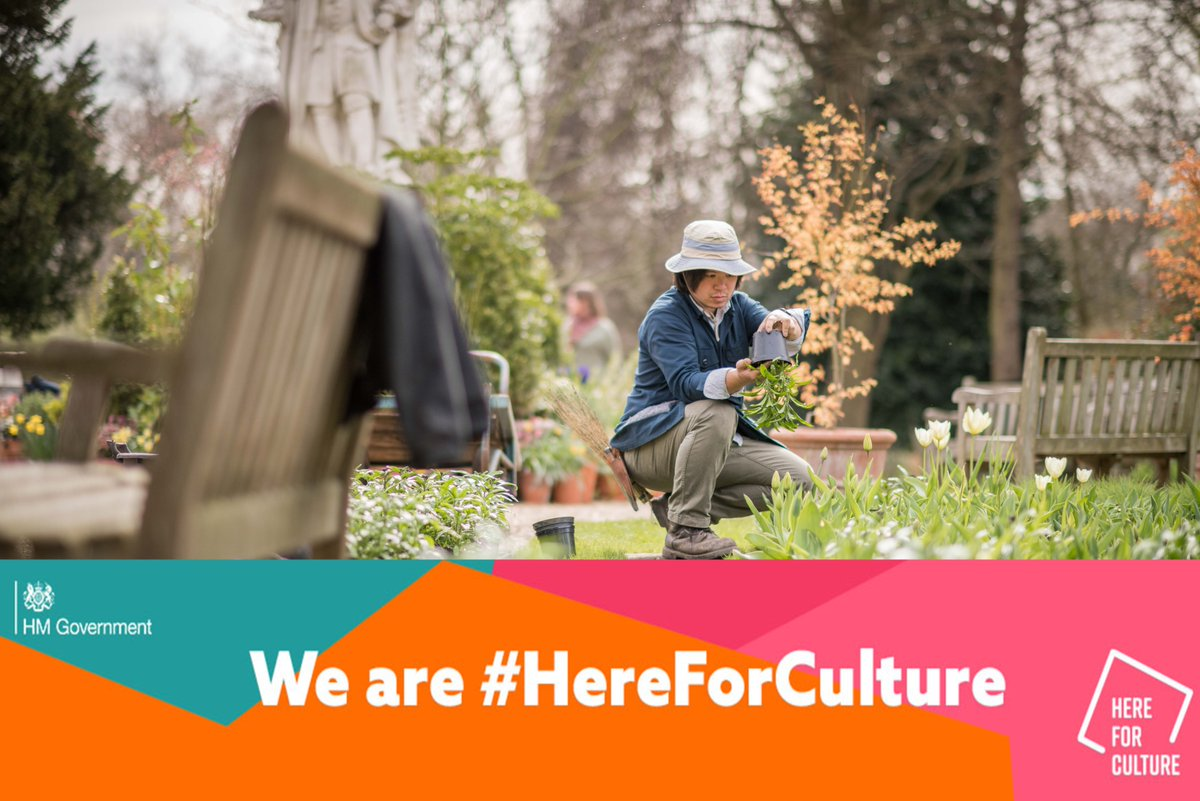We are delighted to announce that we are receiving further support from the Culture Recovery Fund, allowing us to continue to be here for you and #HereForCulture as we care for our heritage plant collections. Our thanks go to @DCMS, @HeritageFundUK and @HistoricEngland.