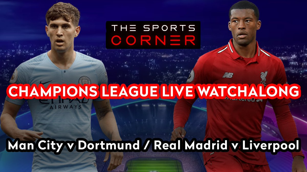 🚨 LIVE WATCHALONG! 🚨  ⚽️ The UCL Quarter Finals begin, including Man City v Dortmund + Real Madrid v Liverpool - who will take first blood in the first leg?  📹 Our Watchalong is NOW LIVE! https://t.co/DNXXqtCSss  #Football #UCL #ChampionsLeague #RMALIV #MCIDOR #Liverpool https://t.co/AKG5ia4hIn