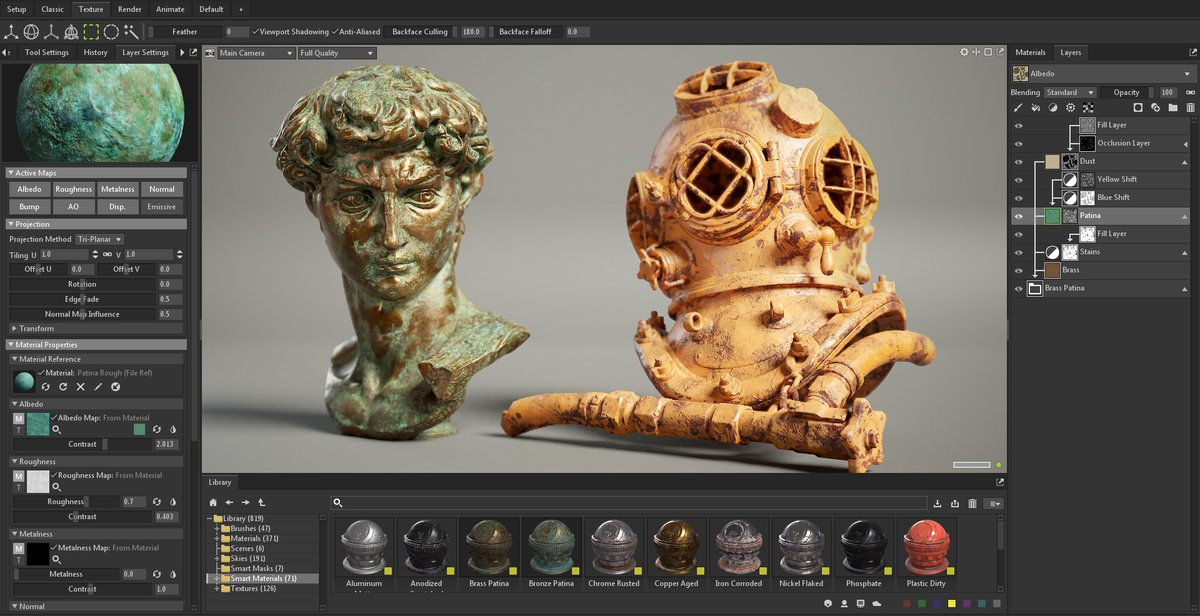 .@marmosetco announced the release of their first Asset Drop for Toolbag 4's Library: 39 Smart Materials, 57 materials, and 11 textures 80.lv/articles/marmo… #marmosettoolbag #gamedev #indiedev #3dart #rendering #render