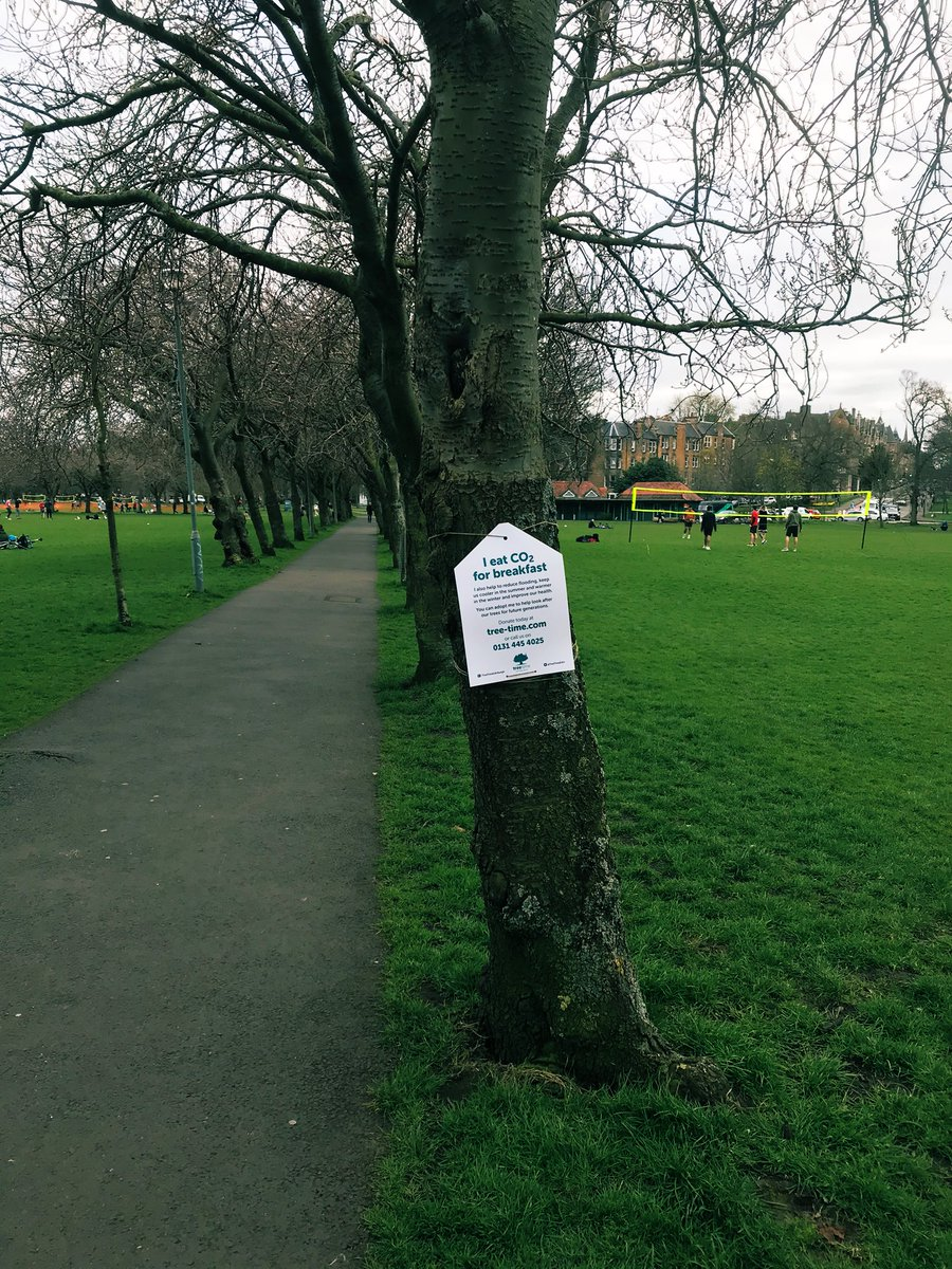 Have you spotted some of our signs in the meadows? There are plenty of trees available for adoption on https://t.co/nD2U29fS5l. Help make Edinburgh greener.   #Edinburgh #Scotland #spring #trees