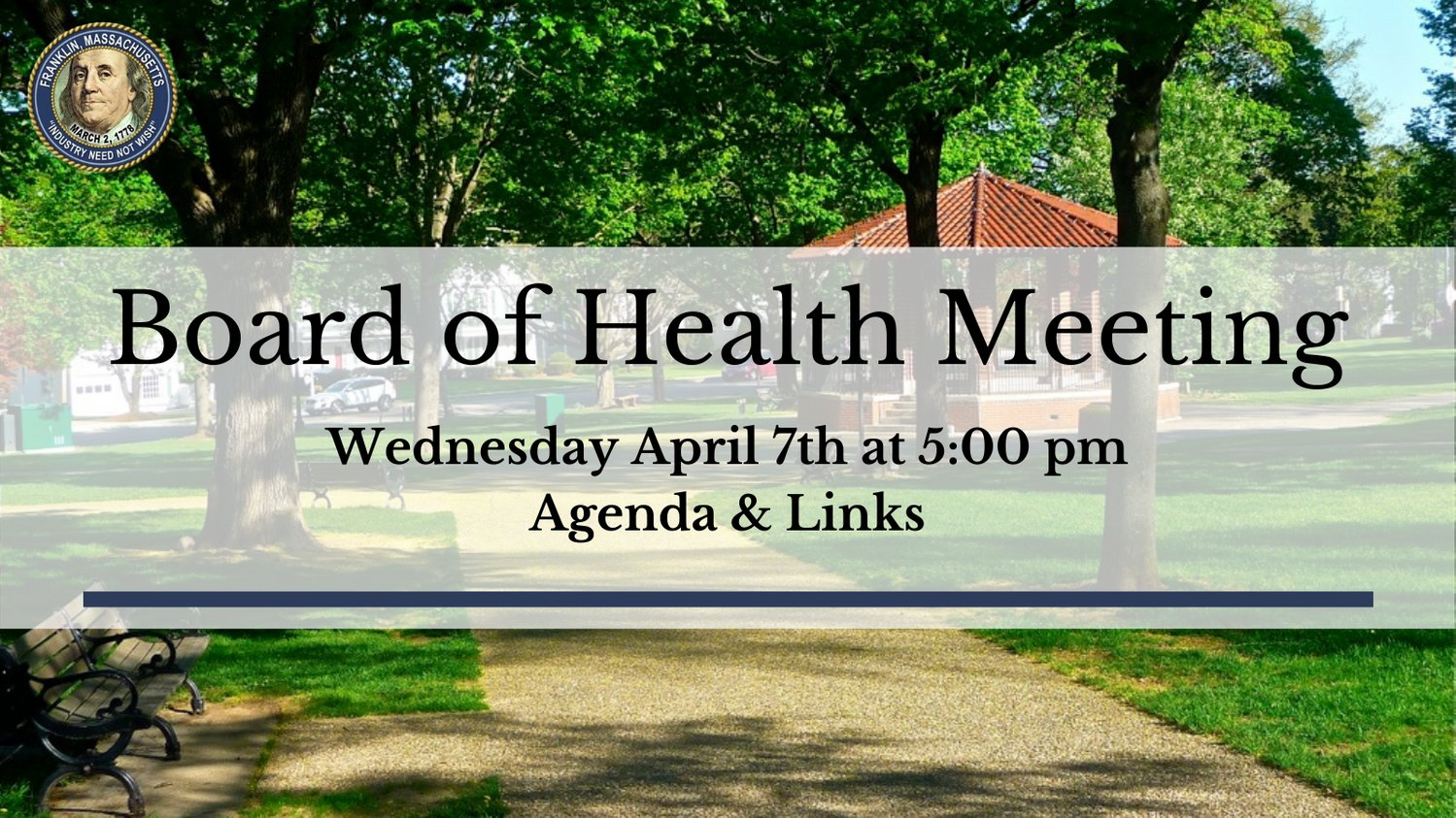 Board of Health - Agenda - Apr 7, 2021 - 5 PM