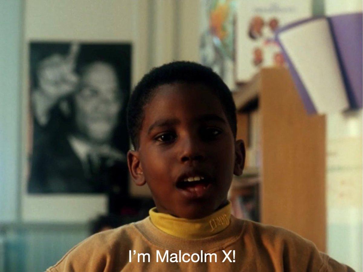 "Denzel Washington's son- John David was the first child who stood up and said' ""I am Malcolm X!"""