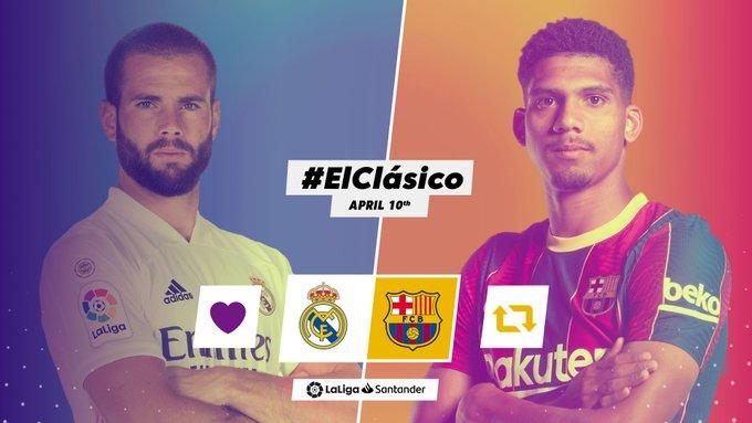 Laga El clasico Real Madrid vs Barcelona di pekan 30 Liga Spanyol 2020-2021